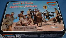 STRELETS SET M 105. WWII EARLY AMERICAN SOLDIERS. 1/72 SCALE. 52 FIGS