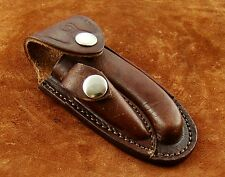 Beautiful Laguiole Hand Made-Hand Craft Cow Hide Leather Sheath- For Knives
