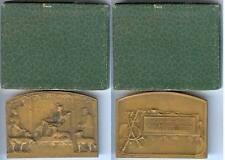 Médaille de table - MONTPELLIER société canine E. BLIN sculpteur d=54x40mm boîte