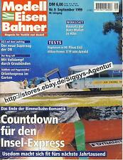Modell Eisen Bahner, 9/1999, September 1999, Magazin für Vorbild und Modell