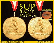 SUP Racer Bronze Medal on Ribbon - Great Trophy or Award