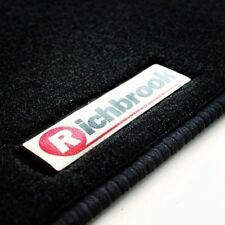 Genuine Richbrook Carpet Car Mats for Daihatsu Cuore 97-03 - Black Ribb Trim