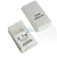 New 4800mAH Rechargeable Battery Pack for XBOX 360 Controller White 4800 mah