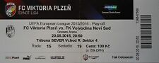 Ticket uefa am 2015/16 victoria plzen-Vojvodina Novi Sad