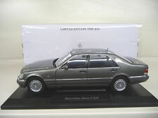 1:18 Norev Mercedes S600 V12 grey W140 Lim. Ed. NEW FREE SHIPPING  WORLDWIDE