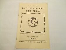 Rare Southern New York Baby Chick and Egg Show 1935 - Official Premium List