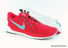 Nike women Free 5.0 running shoes sneakers size 8.5 - Bright Crimson / Black