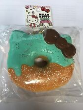 SANRIO HELLO KITTY SQUISHY BIG HALF MINT SPECKLE DONUT BALL CHAIN NIP