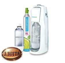 Gasatore d'Acqua SODASTREAM Jet White + Bombola CO2 + 1 Bottiglia da 1 Lt