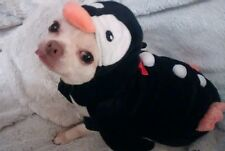 Cute Faux Fur Penguin Dog Coat Fancy Dress Xmas Halloween