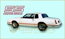 1987 1988 Chevrolet Monte Carlo SS Super Sport Decals & Stripes Kit