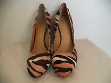 Women's Multi-Color Nine West High Block Heel Shoes. 7 1/2. Animal print design.