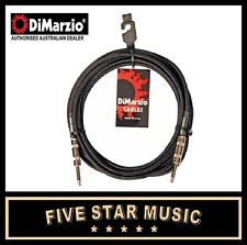 DIMARZIO 18FT BRAIDED INSTRUMENT CABLE BLACK/GREY EIGHTEEN FOOT LEAD 5.5 M