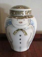 ROYAL DOULTON LARGE GINGER JAR THE SNOWMAN GIFT COLLECTION