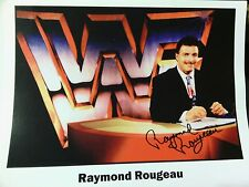 WWF Wrestling Autographed Ray Rougeau 8x10 Photo