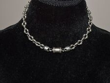 VINTAGE STERLING SILVER BIKER'S HEAVY CHAIN NECKLACE