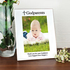 PERSONALISED Godparents Photo Picture Frame Gift Engraved Christening / Babtism