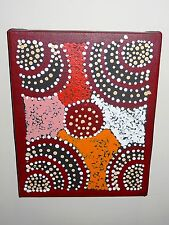 Australian aborigine, original abstract painting, signed by Maurice Williams,