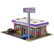 1/64 Slot Car HO Wynn Auto Parts Store Photo Real Kit Model Diorama Scenery