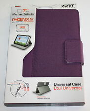 "PORT DESIGN - PHOENIX IV 7"" TABLET / FOLIO CASE  FOR IPAD MINI /TABLET  - PURPLE"