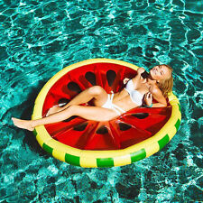 Large Giant Fruit Inflatable Watermelon Water Float Pool Toy Ring Floatie
