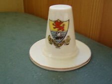RHYL WALES - MODEL OF A WELSH HAT- VICTORIA CRESTED CHINA