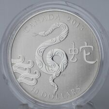 Canada 2013 $10 Year of the Snake Pure Silver 1/2 Troy oz. Specimen Coin & COA