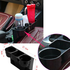 Custom Universal Black 2 Cup Holder Drink Liquid Seat Wedge Car Auto Truck Mount