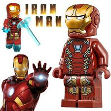 1pc Iron Man Minifigures Building Blocks Toy Marvel Avengers Custom Lego #263