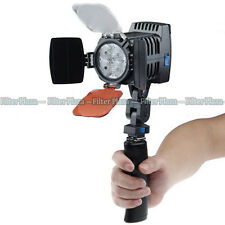 PRO 4pcs LED Digital Camera Camcorder DV Video Light Lamp LED-VL005 +Handle Grip