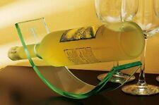 "Etched Glass Wine Bottle Holder Monogram Letter ""T"" New,"