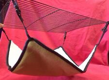 Hammock Fur Rabbit Guinea Pig Ferret Rat chinchilla 14 x14 Inch Nest Play GREEN