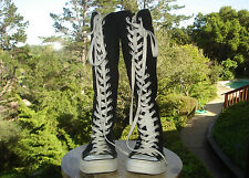 Converse All Star Chuck Taylor Knee High Sneaker Boot Lace/Zip Black M4 Womens 6