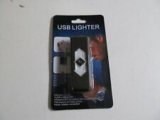 USB Rechargeable Flameless Cigarette Lighter New Windproof Black