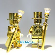 2pcs SET Series 10 Custom Lego Mr Gold Mini Figures Super Hero Minifigures