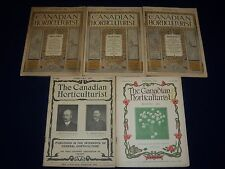 1902-1905 THE CANADIAN HORTICULTURIST MAGAZINE LOT OF 5 - NICE ILLUS. - II 6150
