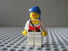 Lego PIRATE FEMALE Minifigure With Blue Bandana Vintage 6273 6285 6251 6286