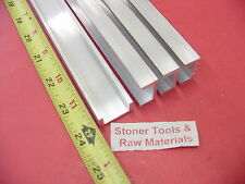 """4 Pieces 1""""x 1/2"""" ALUMINUM CHANNEL 6063 X 1/8"""" Wall 24"""" long T52 Mill Stock 8'"""