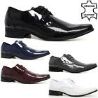 MENS LEATHER SMART OFFICE WEDDING SHOES ITALIAN DRESS WORK FORMAL PARTY SIZE