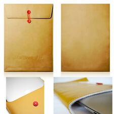 "Apple macbook air 11"" cuir enveloppe housse ordinateur portable sac étui protecteur uk"