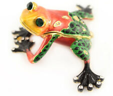 Colorful Venomous Frog Jewelry Trinket Box Collectible Cute Animal Gift 02065