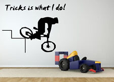 Wall Decor Art Vinyl Sticker Mural Decal Bmx Bike Quote Poster Bicycle SA501