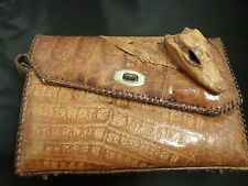 Vintage Alligator Purse Genuine needs strap