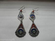 Handmade African  Moroccan Berber enameled Earrings