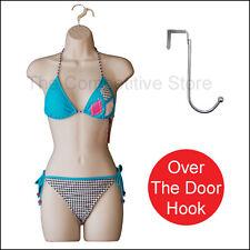 Flesh Female Dress Mannequin Form for S-M Sizes + Chrome Over The Door Hook