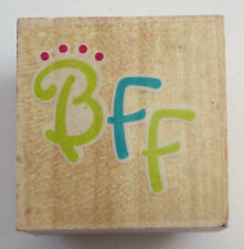 BFF Rubber Stamp Best Friends Forever Kids Tweens DIY Cards Letters Crafts