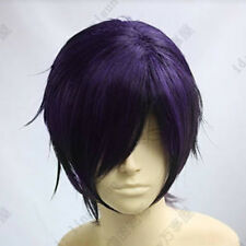 02 Gintama Takasugi Shinsuke Short purple black party cosplay wig postage free