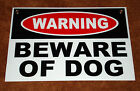 BEWARE OF DOG Coroplast SIGN 12x18 w/Grommets NEW--Security