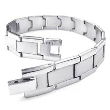Fashion Men's Silver Classic Link Wrist 316L Stainless Steel Bracelet Bangle