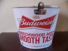 Budweiser metal pail bucket NEW UNUSED Bud